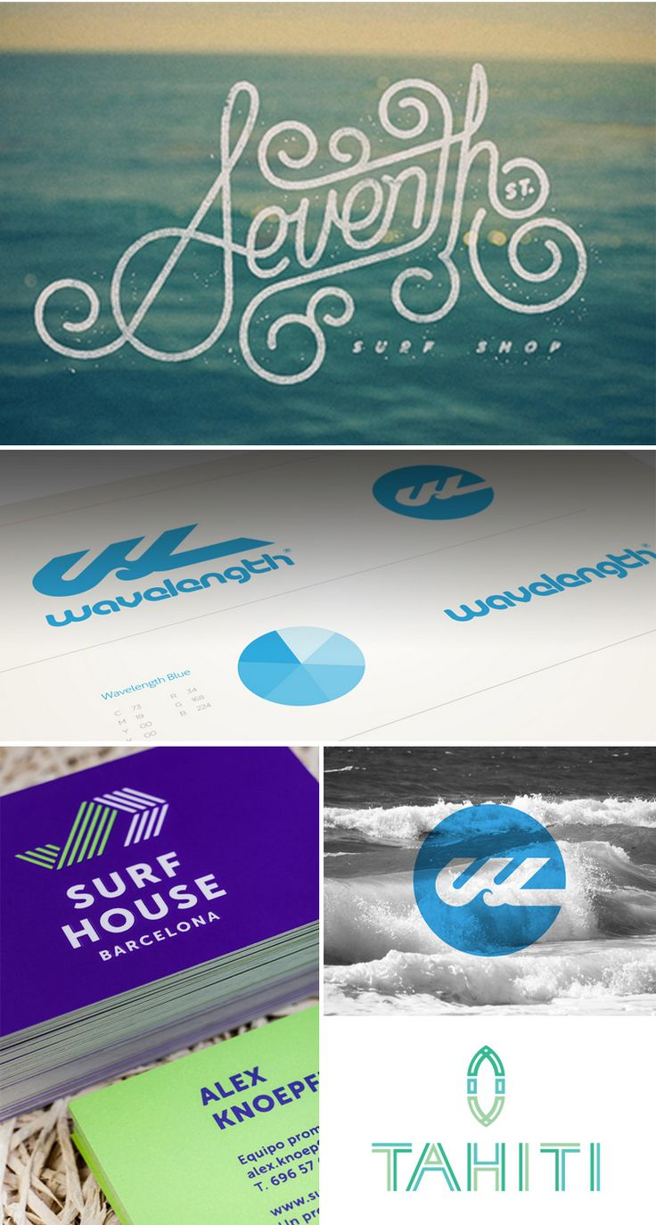 Too Good Type // 8—A Collection of Surf Logos  On the blog today: radworkss.com