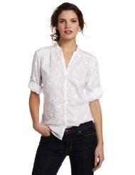 Carhartt Womens 3/4 Sleeve Schiffli Button Down Shirt