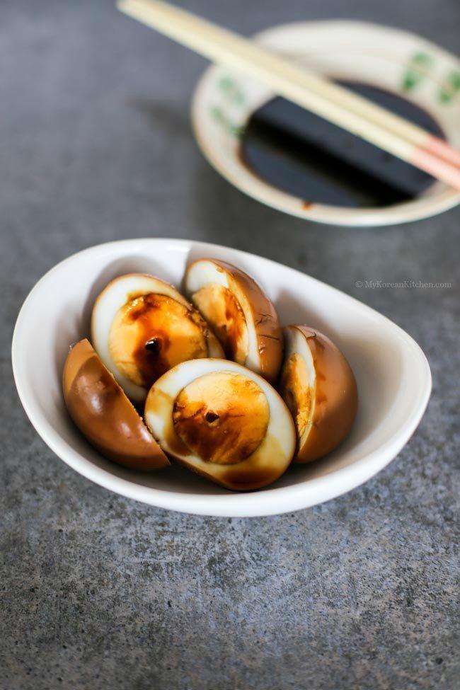 Korean Style Braised Eggs | MyKoreanKitchen.com