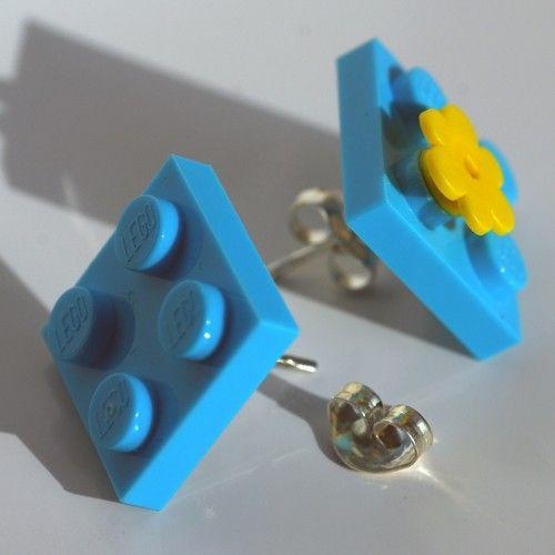 Orecchini azzurro by vicolopagliacorta $24