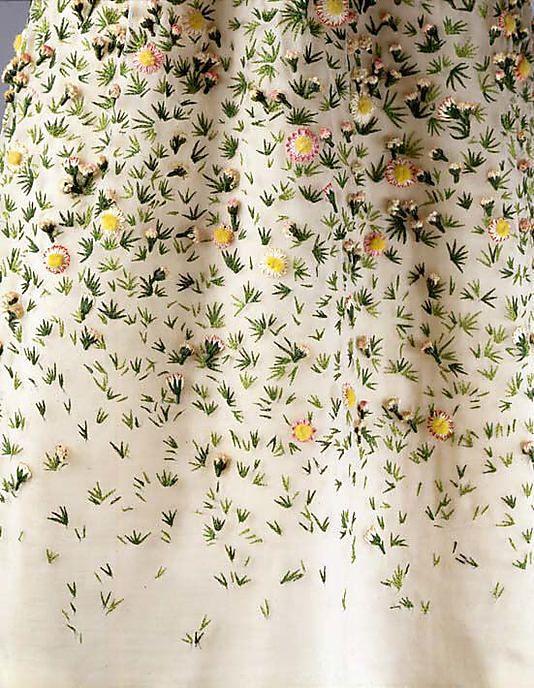 Vintage Christian Dior embroidered floral detail.