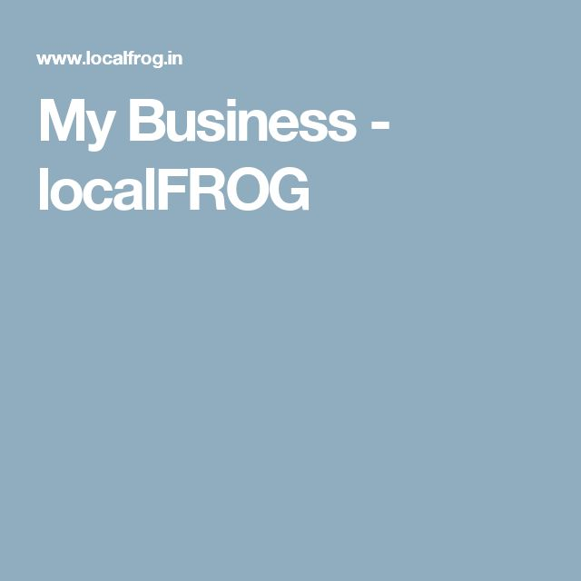 My Business - localFROG