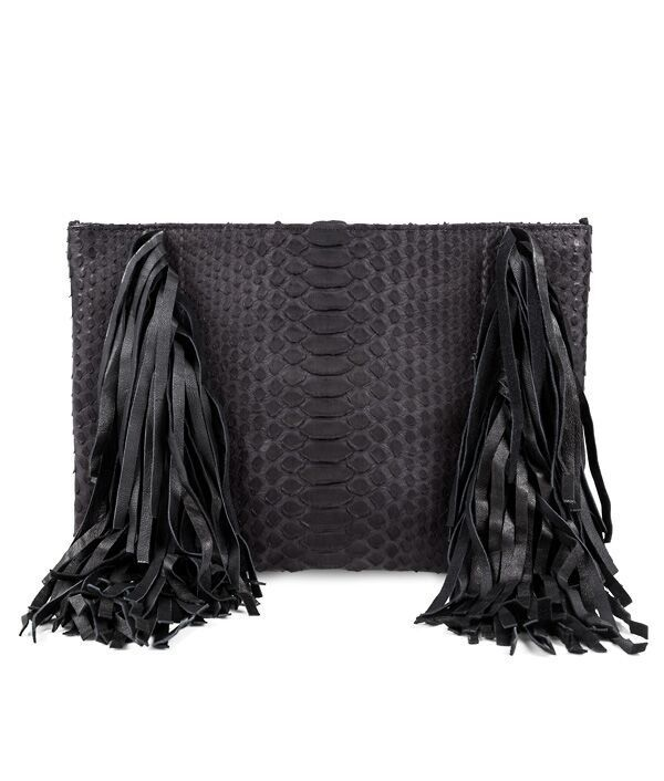 Nikki pouch with fringe