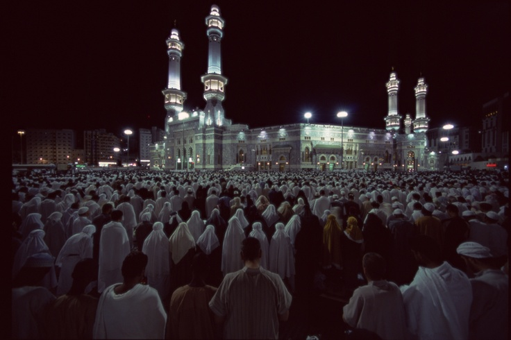 Night Prayer outside the Kaaba, Saudi Arabia by Peter Sanders