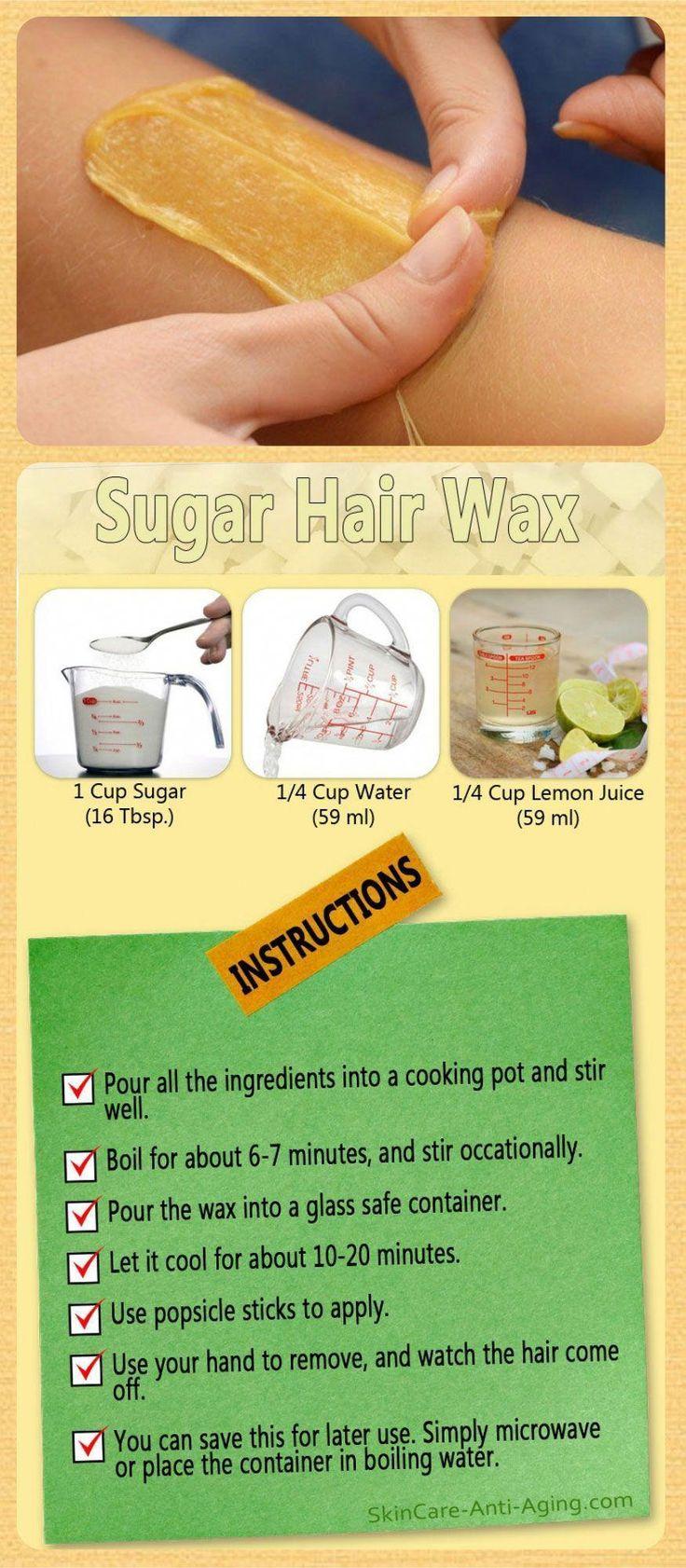 Hair Removal Ideas Sugar Wax Recipe For Hair Removal