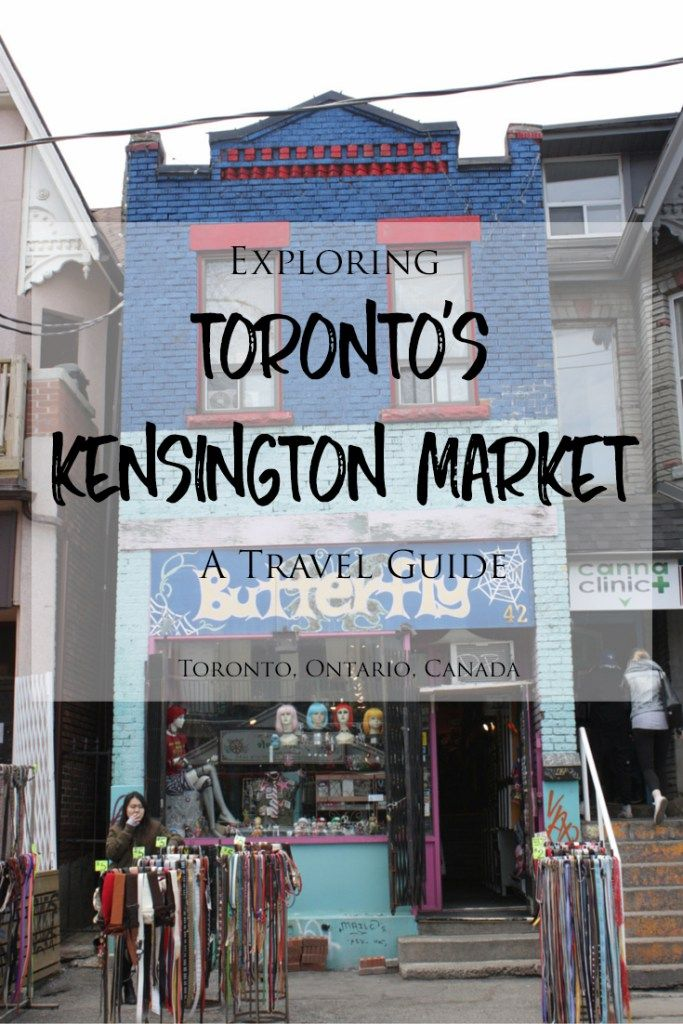 Exploring Toronto's Kensington Market Neighbourhood: A Travel Guide -> Traveling to Toronto? Kensington Market is a funky, eclectic, offbeat and diverse neighbourhood with a laid-back, hippie vibe and fresh produce markets, unique and independent shops, colourful street art and ethnic and healthy restaurants and cafes. Check out my blog for a detailed guide!