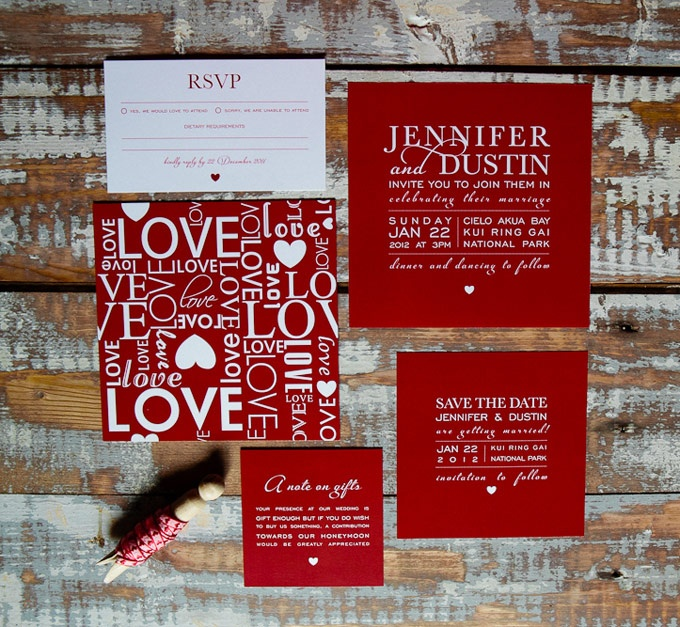 Justified Love wedding invitations. The Paper Mint || thepapermint.com.au