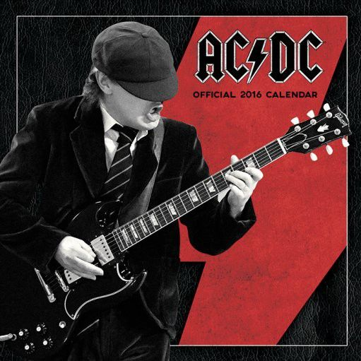 ACDC - Calendrier 2016 - Hard rock - Groupe Merch