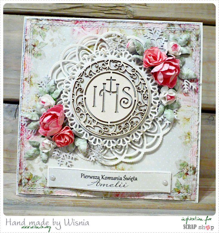 779. Różane kartki na komunie / Rose cards for Communion
