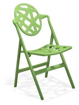 Amazon.com: Zuo Meringue Dining Chair Green Folding Chair, indoor/outdoor