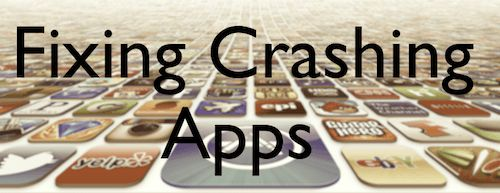 Crashing Apps - logout/login from App Store worked for me