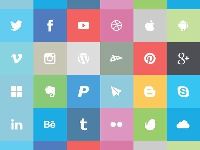 Freebie: Flat Social Icon Set