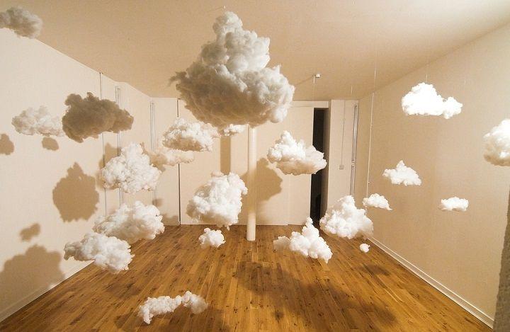 Красивые облака из ваты своими руками