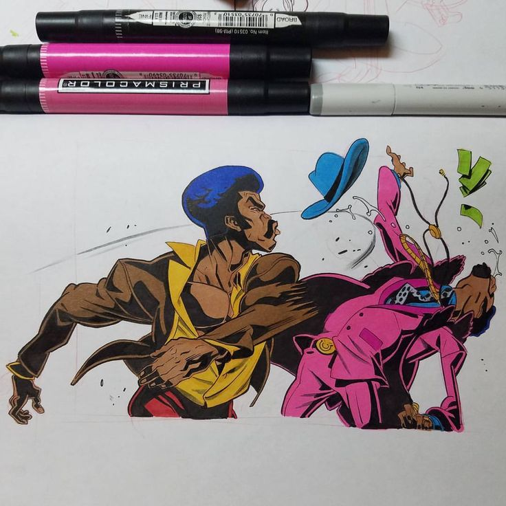 """But Black Dynamite, I sell drugs to the community!!"" #inktober #blackdynamite chase conley"