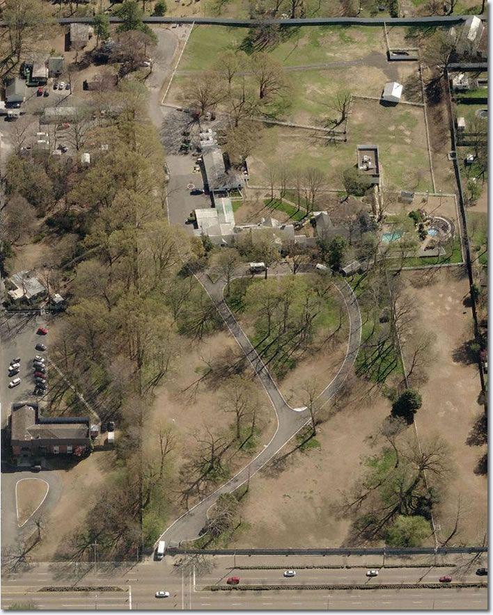 Elvis Presley's Graceland : Satellite Image of Graceland
