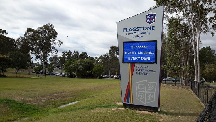 Flagstone Community College #CSI #Corporate #sign #industries #custom #design #signage #LED #LEDsignage #unique #branding #awareness #recognition #identity
