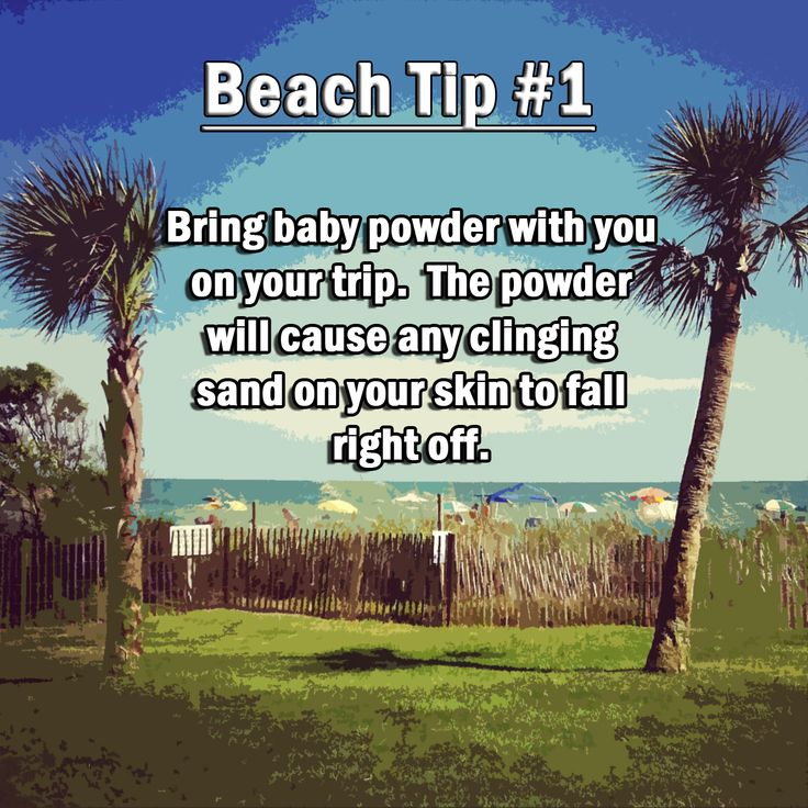 Beach Tip! Bring baby powder with you on your next trip to the beach. #BeachTip #Beach