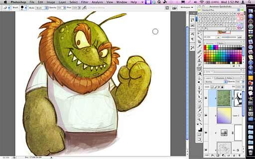 Five Quick Photoshop Tips for Illustrators sample video -- Folio Academy