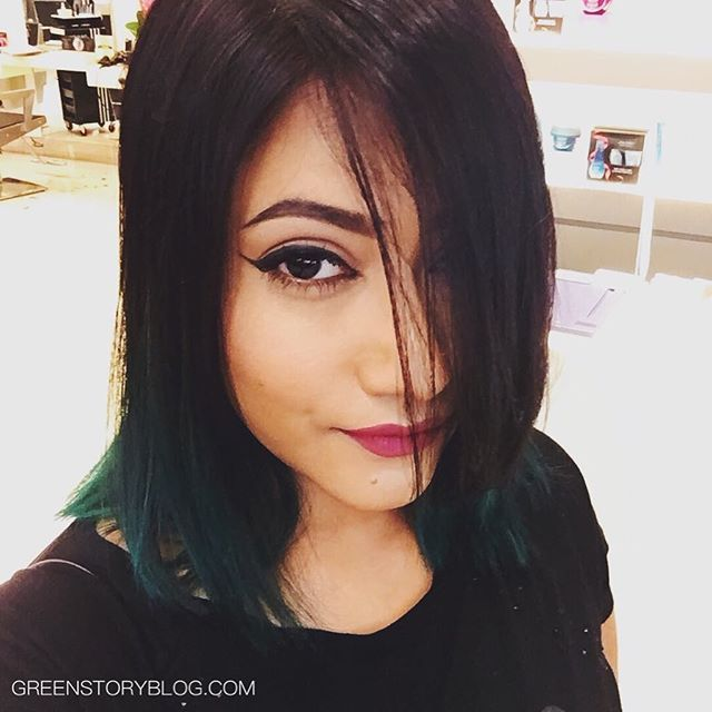 Let the #GREEN rule! ::: #bblogger #greenhair #greenombre #greenblackhair #haircolor
