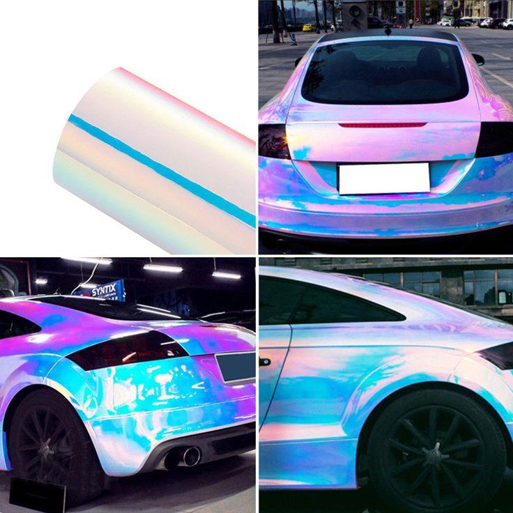 1 99 Gbp Holographic Laser Pearl White Chrome Iridescent Vinyl Film Car Wrap Color Change Ebay Home Garden Vinyl Wrap Car Car Wrap Diy Car