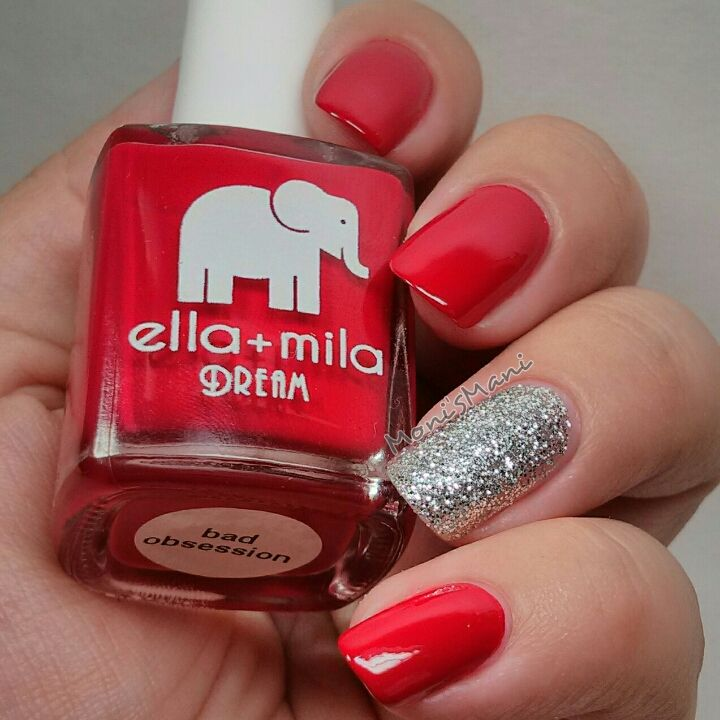 Ella+mila bad obsession and on thin ice accent nail