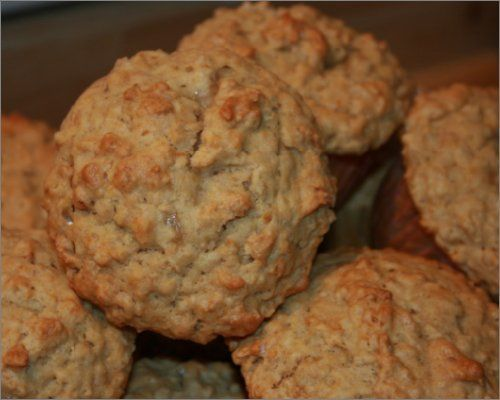 Muffins au beurre d'arachides, bananes et gruau