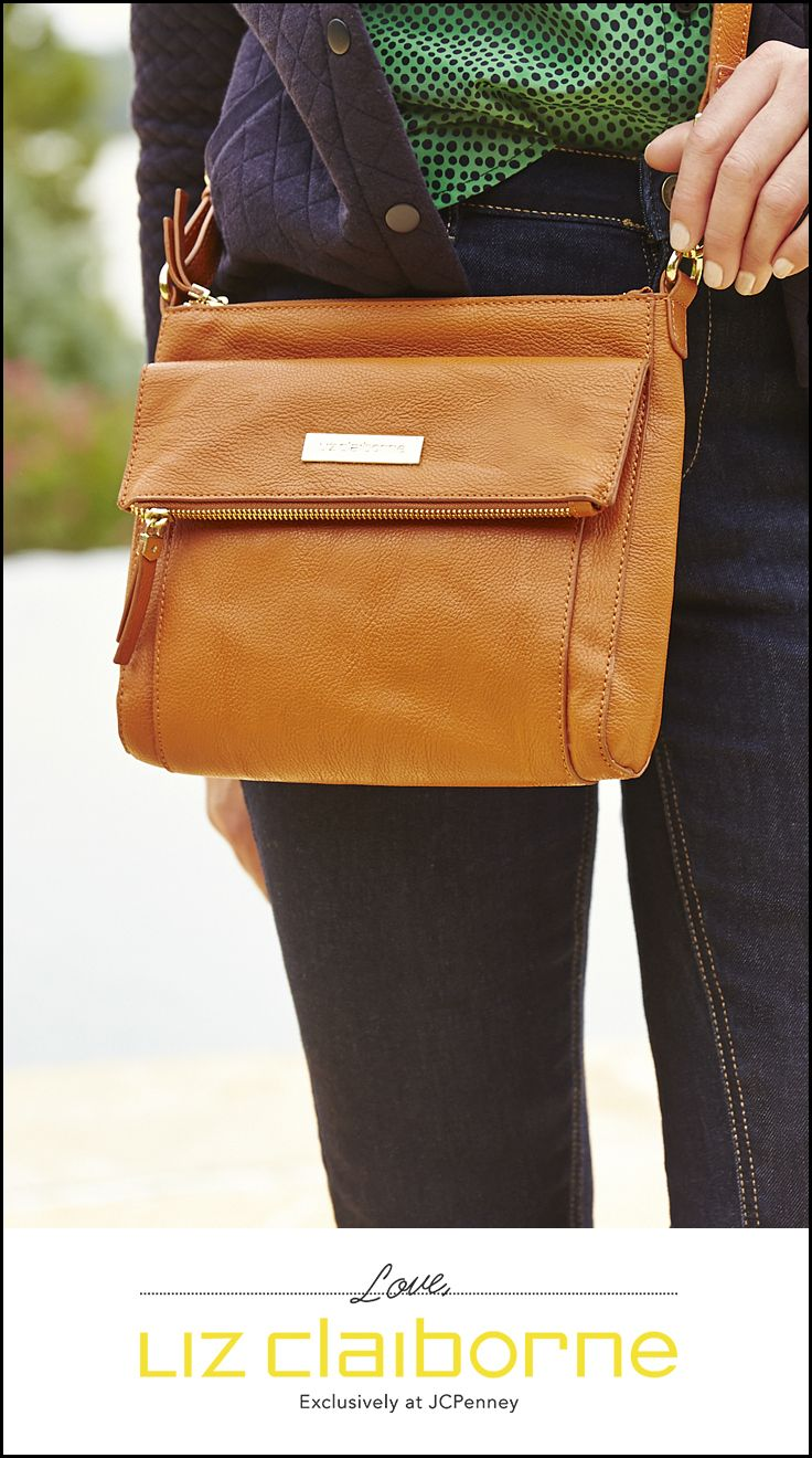 Versatility is the ultimate secret weapon. This Liz Claiborne compact crossbody bag holds all the essentials, and the sophisticated luggage color goes with anything. Available exclusively at JCPenney.