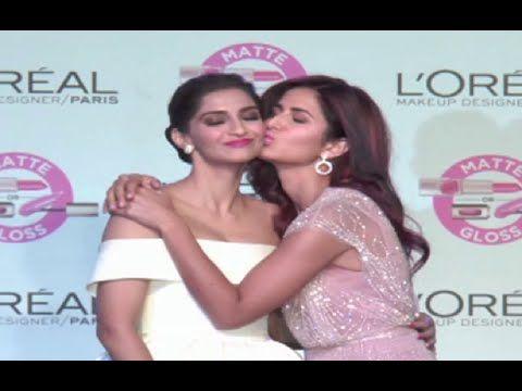 Oops ! Katrina Kaif KISSES Sonam Kapoor cought in camera.