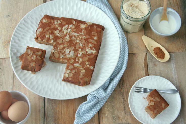 Een gezond tussendoortje voor tijdens de Sinterklaas periode: een speculaas plaatcake. En ook geschikt voor een koolhydraatarm dieet.