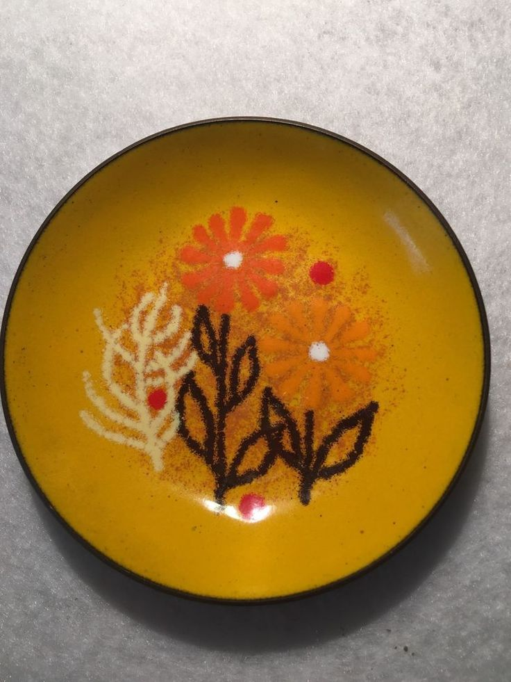 Margaret Johnson WILDWEED Mid-Mod Enameled Copper Atomic Abstract Modern Signed    eBay