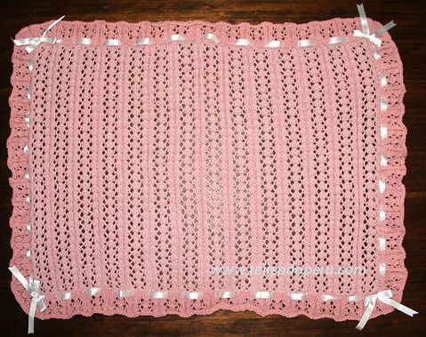 Paso a paso c mo tejer una manta con tablillas caladas en dos agujas o palitos tejido pinterest - Como hacer mantas de punto ...