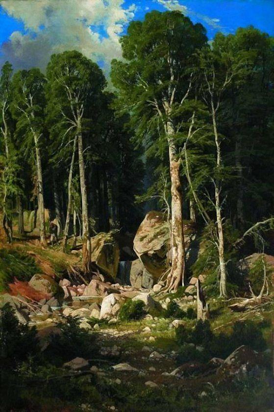 картина ручей в лесу шильдера кроме надземной