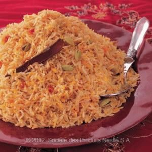 Yemeni Rice with cardamom, tomato, cinnamon