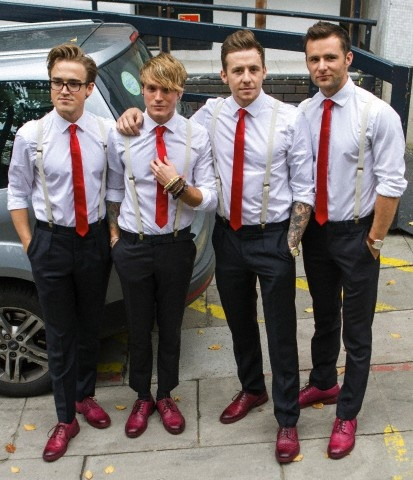 I admit it, I have a soft spot for McFly, just look at them, in matching outfits with braces