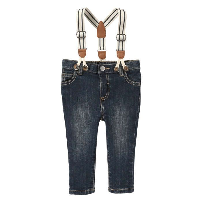 Baby Boys' Stripe Suspender Jean from Joe Fresh. Give your little gentleman…