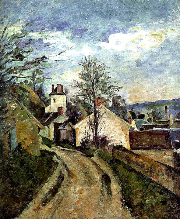 "Artinvest2000. Paul Cézanne, ""La casa del Dottor Gachet a Auvers"" The House of Dr. Gachet in Auvers, 1873, oil on canvas, Musée d'Orsay, Paris."