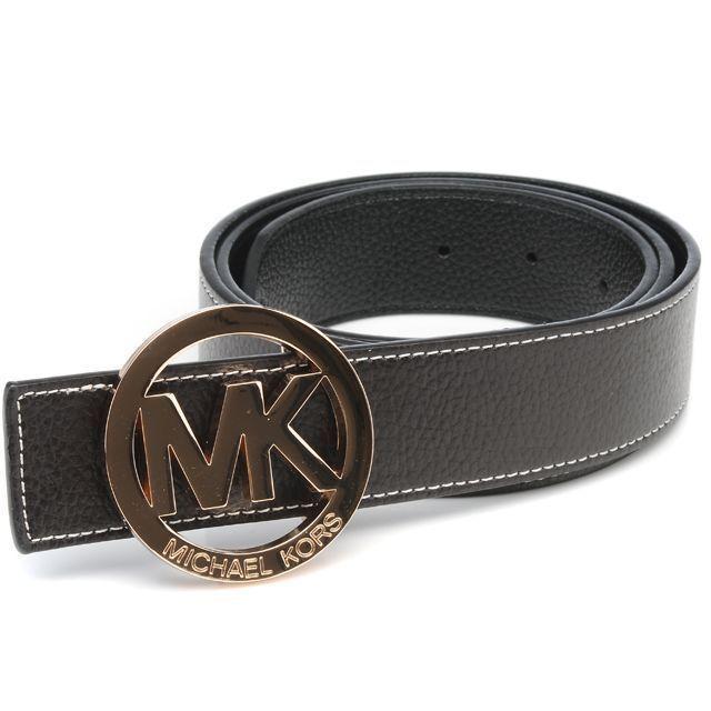 Michael Kors Logo-Medallion Leather Large Black Belts.More than 60% Off,