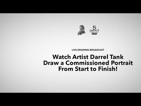 [Live] Artist Darrel Tank Draws a Commission Portrait - Session #1 - YouTube