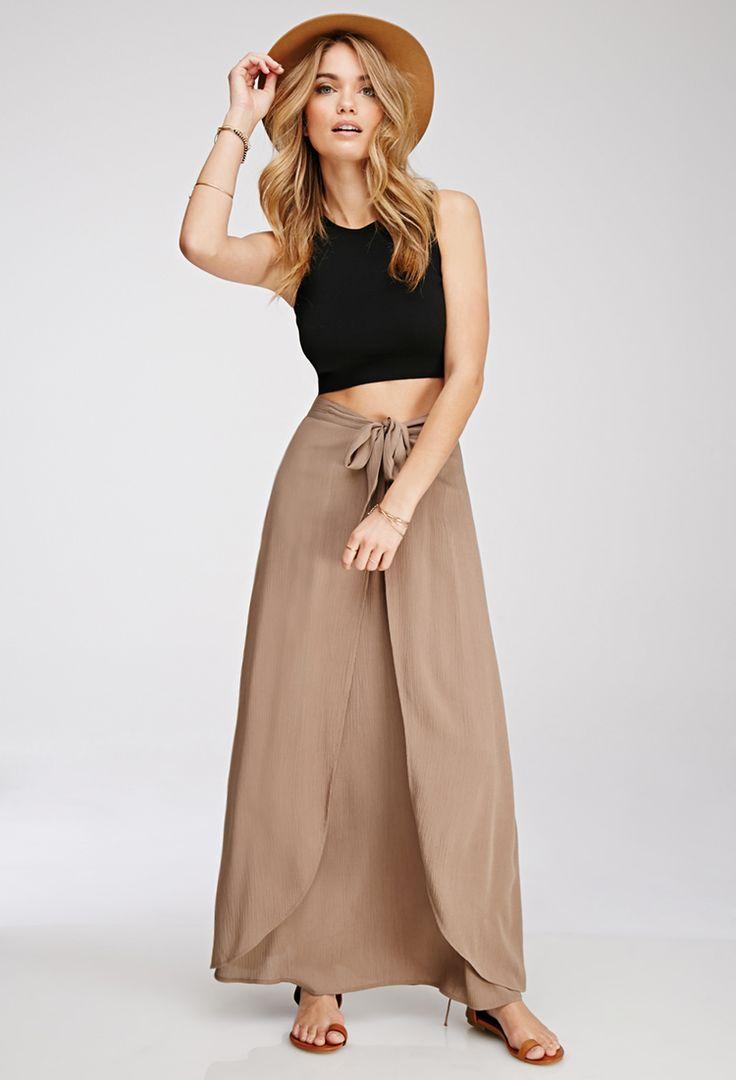 Tulip-Front Maxi Skirt - Skirts - 2000078798 - Forever 21 EU 19.5€