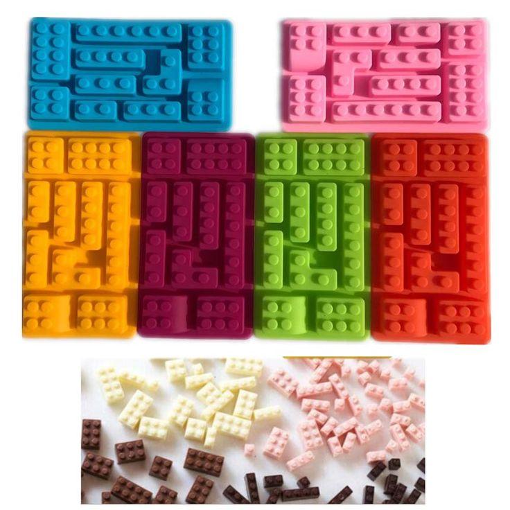 10 Fori Lego Blocchi in Laterizio Forma Rettangolare di Cioccolato FAI DA TE Attrezzi Della Torta Fondente Stampi Stampo In Silicone Vassoio del Cubo di Ghiaccio