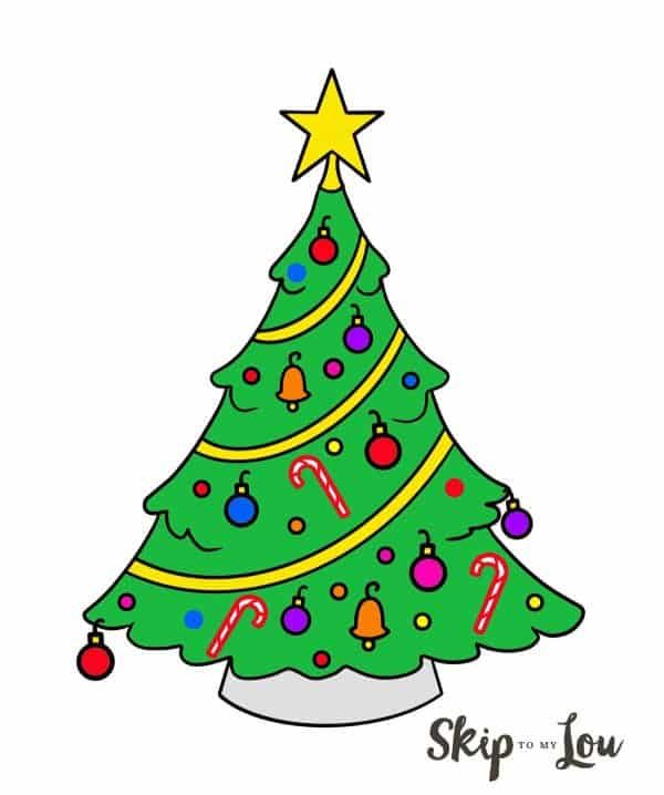 Learn How To Draw A Christmas Tree Christmas Tree Drawing Christmas Drawing Tree Drawing Simple