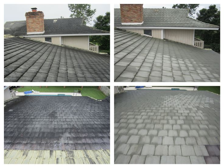 Before And After Of A #TileRoofCleaning In The #Windermere #Orlando Area.  We Use A #saferoofcleaning No Pressure Method Recommended By The  Manufacturer.