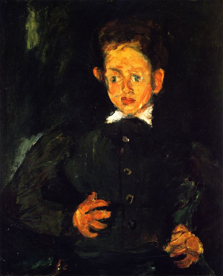Chaim Soutine: Boy in a green coat. ca. 1927. Private collection.