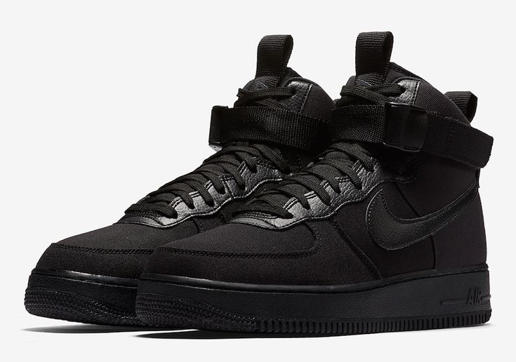 The Nike Air Force 1 High Canvas Triple Black is officially introduced and it's dropping at Nike stores in the U.S. soon.