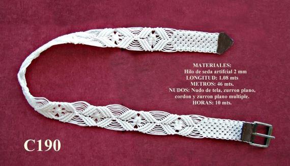 Cinturon de macrame , Complementos, Cinturones