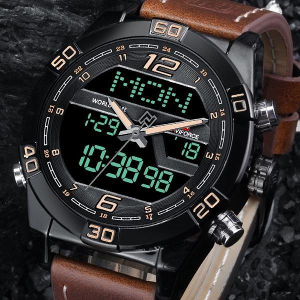 Naviforce Luxury Men Watchbrand Fashion Sports Watches Men S Waterproof Quartz Date Clock Man Leather Ar Mens Fashion Rugged Watches For Men Mens Sport Watches