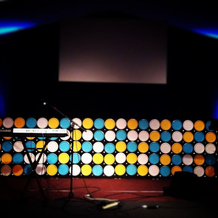 Plates and Points from Family Life Community Church in Bangor, PA | Church Stage Design Ideas