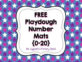 FREE printable number mats with ten frames for playdough!