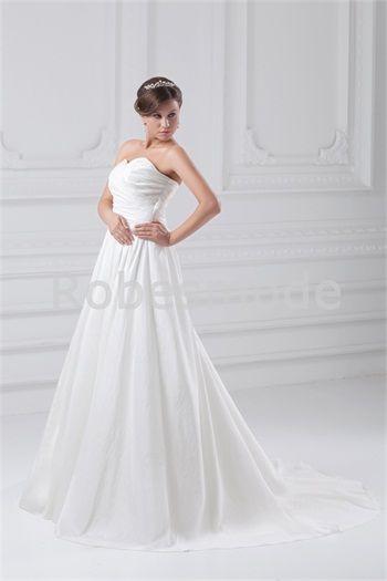 Robe de mariée simple en taffetas dos zippé traîne palais  SALE ...