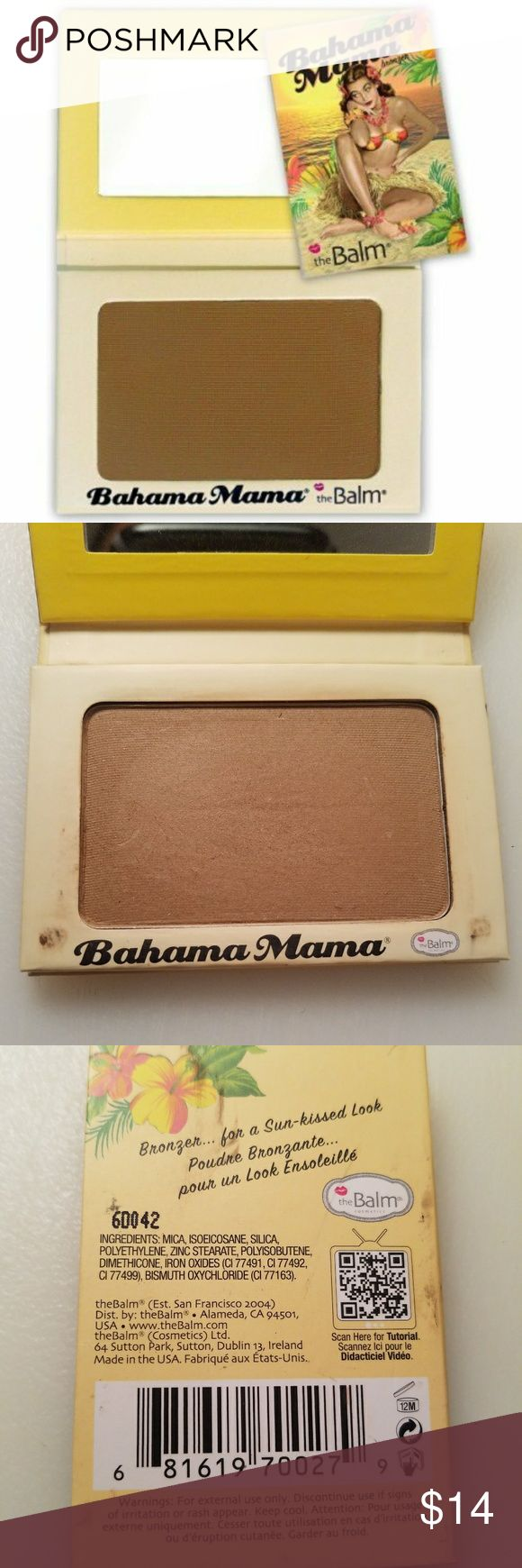 Bahama Mama Bronzer, Shadow & Contour Powder Finally, a Caribbean getaway in a compact! This matte bronzer creates the look of beautifully tanned skin without any orange undertones for a fresh-off-the-beach glow. Bahama Mama also doubles as the perfect contour powder, neutral brow-filler and matte brown eyeshadow. Yes, this tropical beauty keeps busy!  Gently used. Cute packaging.  I'm an NC42 (MAC), this shade didn't work for me as it added little to no bronzing effect.  *Will sanitize…